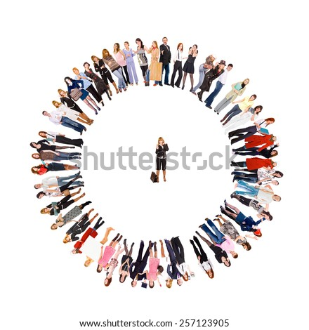 Corporate Culture Big Group  - stock photo