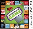 Corporate Game Infographic. With humorous milestones along the career path. jpg - stock photo
