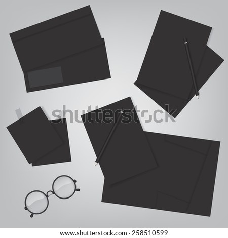 Corporate identity and office supply template - stock photo