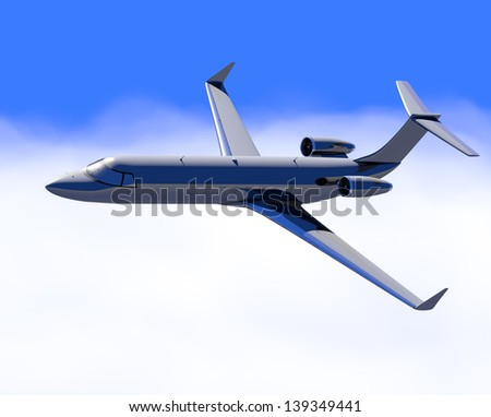 Corporate jet, Business Travel - stock photo