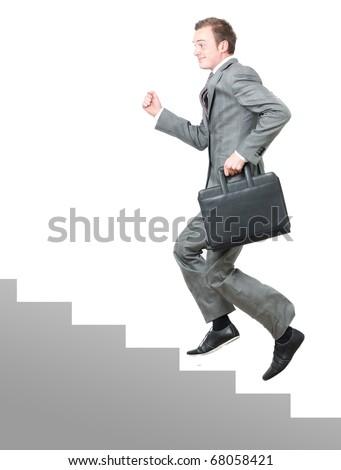 Corporate ladder - stock photo