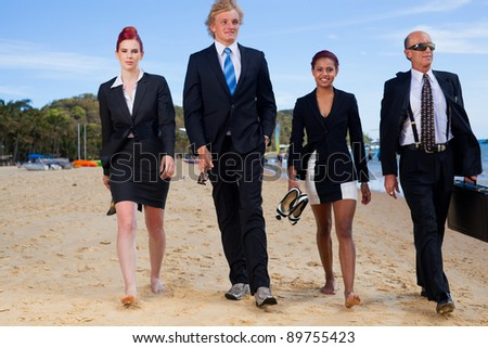 Corporate on the beach