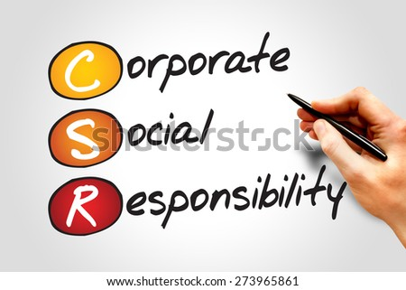 Corporate Social Responsibility (CSR), business concept acronym - stock photo
