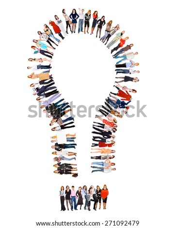 Corporate Teamwork Business Picture  - stock photo