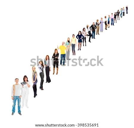 Corporate Teamwork Perspective Concept  - stock photo