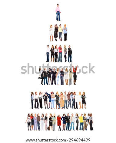 Corporate Teamwork Standing Together  - stock photo
