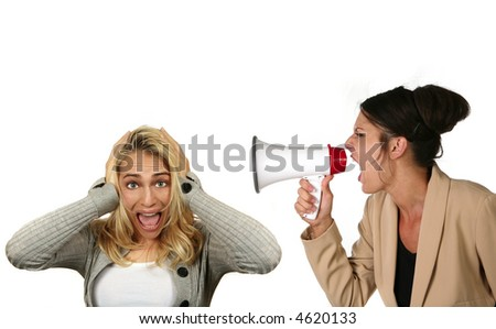 Corporate Woman Screaming and Demeaning Her Subordinate While She Covers Her Ears