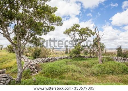 Corral stone at Serra da Canastra National Park - Minas Gerais - Brazil - stock photo