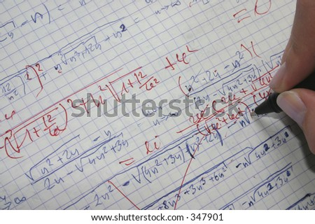 correcting maths #2 - stock photo