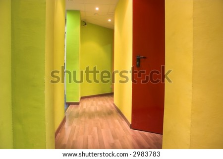 corridor - stock photo