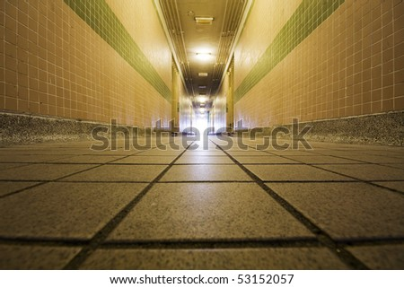corridor in a houseing building