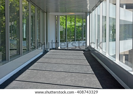 Corridor in the office - stock photo