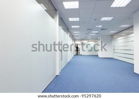 Corridor in the office building - stock photo