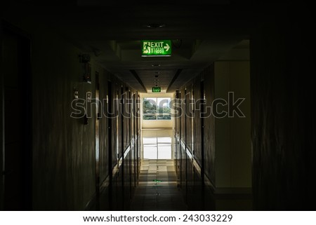 Corridor with light at window, Thailand. - stock photo