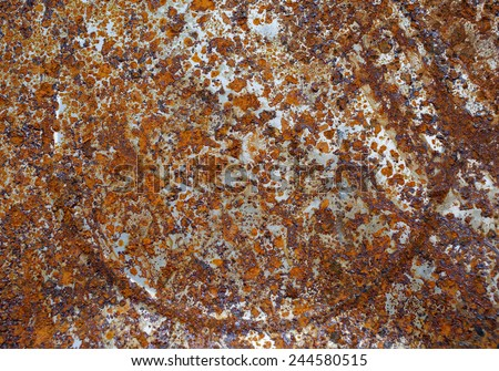 Corrosion of old metal drums. Texture rust. - stock photo