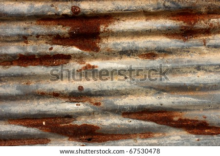 Corrosion of zinc - stock photo