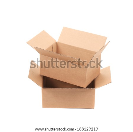 Corrugated cardboard boxes. Isolated on a white background.