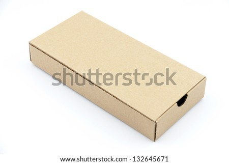 Corrugated cardboard boxes on white - stock photo