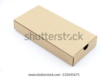 Corrugated cardboard boxes on white - stock photo