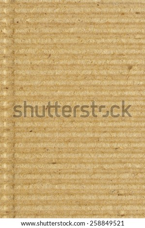 Corrugated cardboard goffer paper texture rough old recycled goffered textured blank empty grunge copy space background aged grungy macro closeup taupe brown tan yellow beige vertical vintage pattern - stock photo