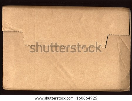 corrugated cardboard packet - stock photo