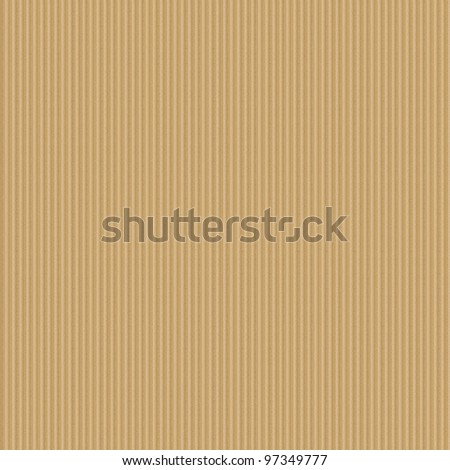 Corrugated cardboard seamless background - texture pattern for continuous replicate. - stock photo