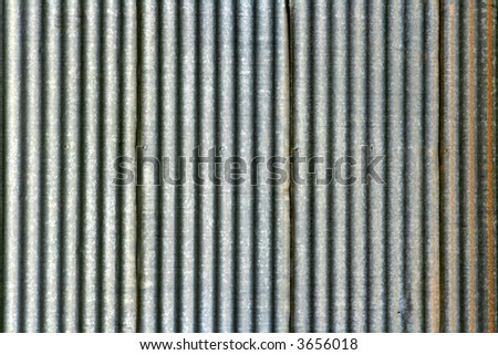 Corrugated Iron - stock photo