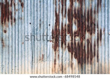 corrugated iron - stock photo