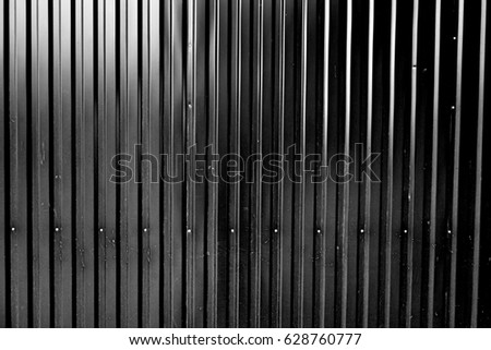 New Corrugated Metal Sheet Serves Fence View Stock Photo (Download Now  VB41