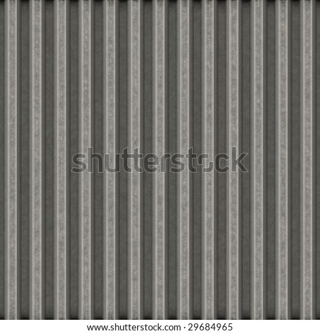 Corrugated metal surface with corrosion seamless texture - stock photo