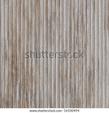 Corrugated metal surface with corrosion texture seamless background illustration - stock photo