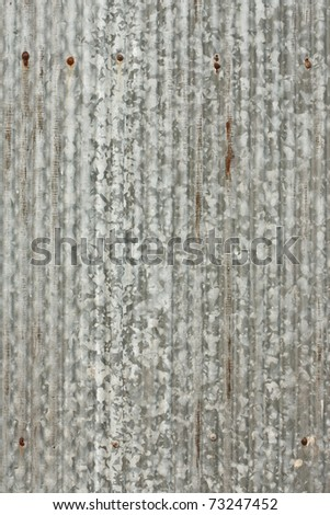 Corrugated plate - stock photo