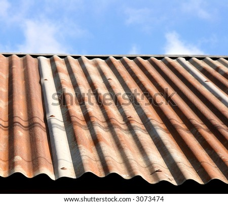 Corrugated Roof Background