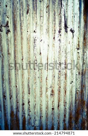 Corrugated rusty metal - stock photo