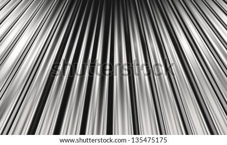 Corrugated sheet background - stock photo
