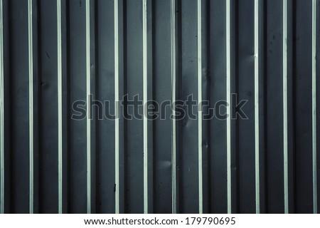 corrugated sheet metal background - stock photo