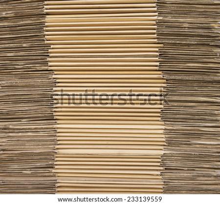 Corrugated stacked cardboard - stock photo