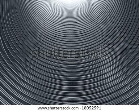 Corrugated tube. - stock photo