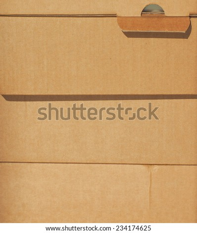 Corrugatedcardboard boxes for mail shipping - stock photo