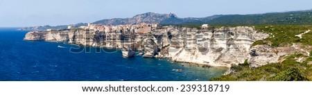Corse - Corsica, France: Image of the country of Bonifacio. - stock photo