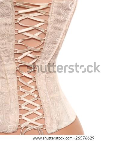 Corset background - stock photo