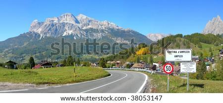 Cortina d'Ampezzo 02 - stock photo