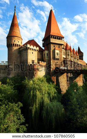 Corvinesti Castle, Hunedoara, Romania, Europe - stock photo