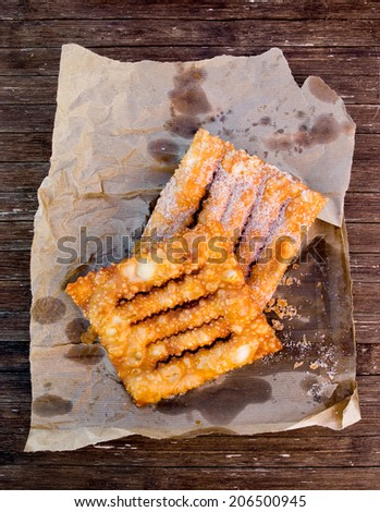 Coscorroes, typical cake from Alentejo, Portugal. Portuguese cakes. - stock photo