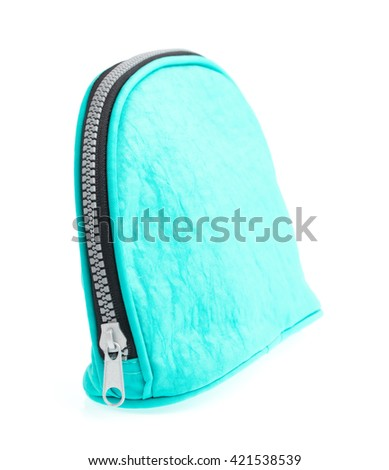 Cosmetic bag isolated on white background