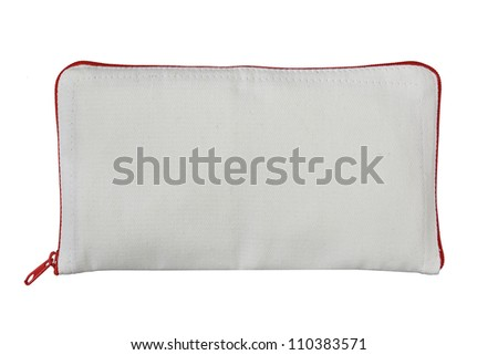 cosmetic bag on white background - stock photo