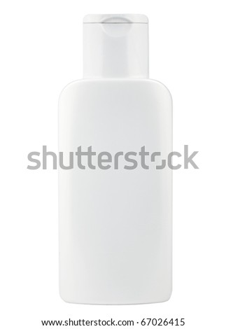cosmetic bottle isolated - stock photo