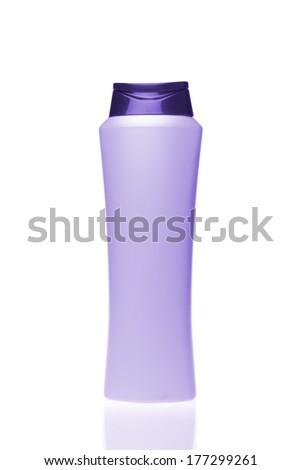 cosmetic bottle isolated on white background - stock photo