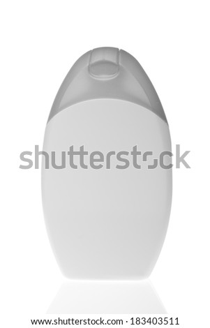 cosmetic bottle isolated on white background