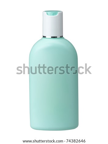 Cosmetic bottle without label for you put your brand or text on it - stock photo